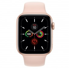 Apple Watch Series 5 GPS 44mm Gold Aluminum Case with Sport Band Pink Sand