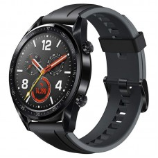 Huawei Watch GT Black Stainless Steel Graphite Black Silicone Strap